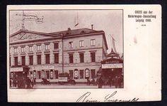 Leipzig 1900 Motorwagen Ausstellung Sonderstempel SST Erinnerungsstempe