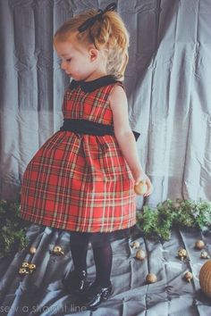Vintage Kate Dress, pattern by The Freckled Pear, sewn by Sew a Straight Line Mo. - Vintage Kate Dress, pattern by The Freckled Pear, sewn by Sew a Straight Line More Source by useyer - Baby Girl Christmas Dresses, Toddler Christmas Dress, Kids Christmas Outfits, Christmas Christmas, Toddler Girl Shoes, Toddler Dress, Baby Shoes, Girls Shoes, Toddler Girls