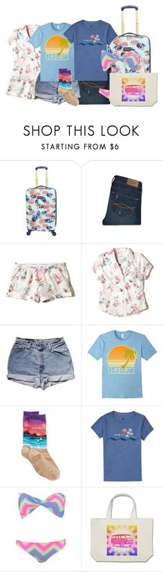 """""""weekend in hawaii"""" by purplicious ❤ liked on Polyvore featuring Abercrombie & Fitch, Hollister Co., Levi's, HOT SOX, Billabong, Boohoo and Kombi"""
