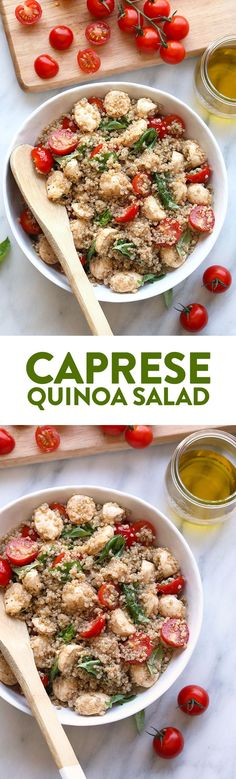 Fresh Caprese Quinoa Salad - Fit Foodie Finds