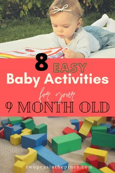 9 month old babies are very busy, moving about and exploring their environment. In regards to child development, this is typically a time of exploration of space and body. See our top 8 toys, play ideas and games, and how they foster milestone development at this stage. Diy Toys For 9 Month Old, Diy Baby Toys 8 Months, 9 Month Old Baby Activities, Infant Activities, Sensory Activities, Diy Busy Board, Busy Board Baby, Baby Sensory Board, Toddler Activity Board