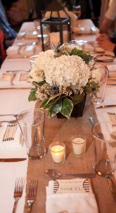 Fall wedding.  Table detail.