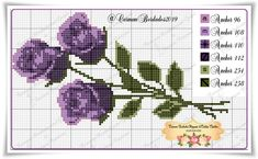 Cross Stitch Rose, Cross Stitch Flowers, Cross Stitch Charts, Cross Stitching, Cross Stitch Embroidery, Chor, Plastic Canvas, Needlework, Crochet