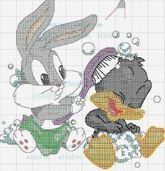 Bain Baby Bugs Bunny & Baby Daffy Duck