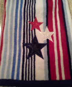 usa Double kitchen Towel with embroidered stars. by jostowelcrafts, $10.00
