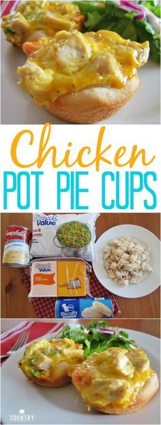 Chicken Pot Pie Cups recipe from The Country Cook. Only 5 ingredients and it whips up in minutes. So easy and so good!