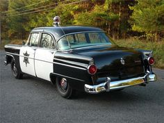 1950s ford police car | 1950-1955 Ford photographs and Ford technical data - allcarcentral.com
