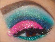 Pink and Blue explosion - makeup inspiration for glamour pusses #cabaret #assemblyfest #edfringe