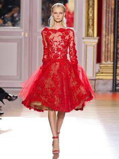 A-line/Princess Bateau Long Sleeves Applique Knee-length Organza Dresses