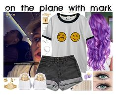 """""""on the plane with mark"""" by roxouu ❤ liked on Polyvore featuring Yves Saint Laurent, Chicnova Fashion, PhunkeeTree, Casetify, PèPè, Bling Jewelry, Eos, Michael Kors, adidas Originals and byroxouu"""