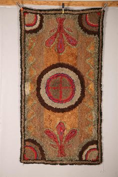 antique hooked rug. LOVE