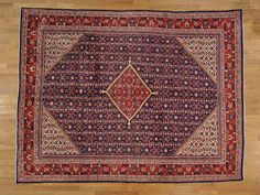 9.5' x 12' Persian Mahal Full Pile Exc Cond Hand Knotted Oriental Rug -