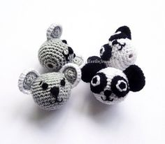 From these crochet coala bear or panda beads you will make perfect nursing necklace, baby teething toy and more!  Beads size-22 mm(0,86 inch)  Price for 1 item - $4.50