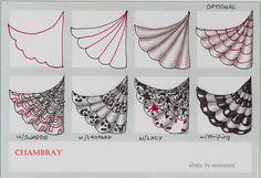 Chambray-Tangle Pattern by molossus, who says Life Imitates Doodles, via Flickr