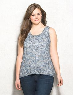5fd56dd8b75 Plus Size Textured Wavy Shimmer Sweater Tank From The Plus Size Fashion  Community At www.