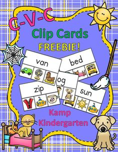 This resource provides fun and inviting literacy centers for little learners to practice reading and decoding CVC words. There are 16 clothespin clip cards with a CVC Word and a choice of three CVC pictures printed on each card. Learners read the word and clip a clothespin to the corresponding picture.