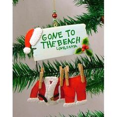 Downeast Concepts -Santa Claus Gone to the Beach Christmas Ornament