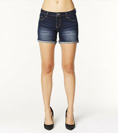 These medium wash denim shorts look hot paired with one of our sheer tanks and a bandeau.