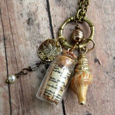 Pirate Wench Necklace   Bottle Necklace  Nautical by Msemrick, $30.00