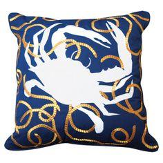 Indoor/Outdoor Crab Pillow