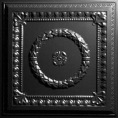 Evangeline Black Ceiling Tiles