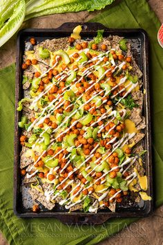Take a break from your standard nacho plate with these Buffalo Chickpea Nachos!