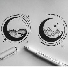 sketches by alucinori - which one is your favourite? A or B?