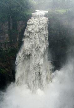 Raw power - Tequendama Falls - near Bogota. (Salto del Tequendama, cerca de Bogotá, Colombia).