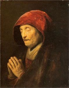 Old Woman in Prayer - Rembrandt