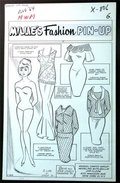 Modeling With Millie paper doll / comics.ha.com