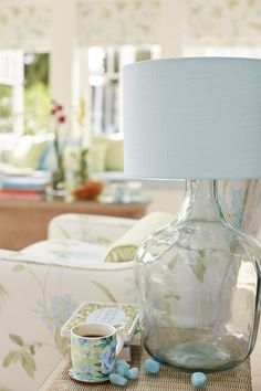 Find sophisticated detail in every Laura Ashley collection - home furnishings, children's room decor, and women, girls & men's fashion. Duck Egg Living Room, Estilo Tropical, Laura Ashley Home, Room Design Bedroom, Childrens Room Decor, Blue Accents, Home Decor Inspiration, Cottage Style, Blue Bird