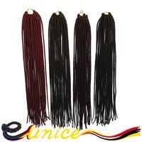 "Black Braided Hairstyles 14"" Synthetic Dreads Faux Locs Crochet Braid Hair Marley Braiding Hair Extensions Senegalese Braids"