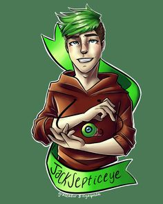 icyalpaca: A collab drawing of Jacksepticeye with graceafur !