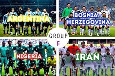 Argentina, Boznia Herzogoviana, Nigeria and Iran battle in Group F of World Cup 2014 Soccer Cup, Soccer Fifa, Football Soccer, Basketball, Fifa 2014 World Cup, Brazil World Cup, Soccer World, World Of Sports, Iran Soccer