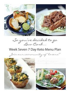 Week Seven of the 7 Day Keto Menu Plans - complete with shopping and prep lists. Everything you need to lose weight fast on a low carb diet!