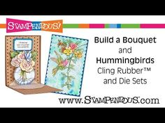 Pop-Up Peek! Our Newest Innovation! | Stampendous Impressions  Build a Bouquet cling stamps and die set