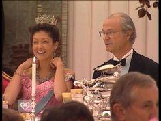 Countess Akexandra with King Carl Gustav
