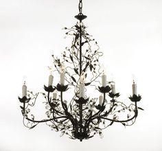 "New Wrought Iron Crystal Chandelier Chandeliers Lighting 33""X33"" | eBay"