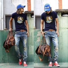 Byther Cap, T Shirts, Jeans #menswear