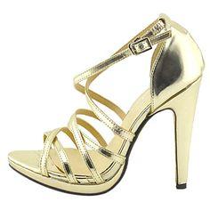 leatherette stiletto elegantes bombas de calcanhar com fivela partido / noite sapatos – USD $ 39.99