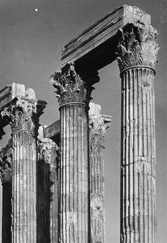 Walter Hege – Athen, Teilansicht des Olympieion, 1928-29