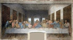 The Last Supper is a late mural painting by Leonardo da Vinci in the refectory of the Convent of Santa Maria delle Grazie, Milan. (by Leonardo Da Vinci) Michelangelo, Fresco, Da Vinci Last Supper, The Last Supper Painting, Maria Magdalena, Mona Lisa, Deco Panel, Maundy Thursday, Most Famous Paintings