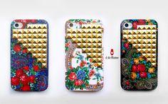 iPhone studs case - white, black, blue. Limited Edition   www.a-la-russe.com