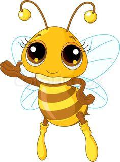 Stock vector of 'cartoon, drawing, bee'