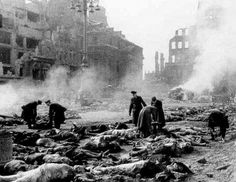 Dresden, Germany in ruins, 14 Feb 1945