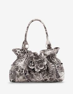 1c1c38b1b0 Del Mano Animal Print Floral Shopper - Satchels   Totes - Accessories