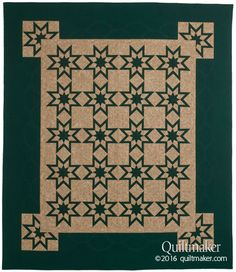 Western Star quilt pattern: Paper foundation piecing makes for sharp points and amazing accuracy in this queen-size star quilt designed by Carolyn McCormick.