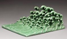 The Wave 浪/AI WEIWEI The Wave 浪, 2005  glazed ceramic 6 1/8 × 16 7/8 × 14 3/4 in 15.6 × 42.9 × 37.5 cm Photo: courtesy of The Metropolitan Museum of Art Ink Art: Past as Present in Contemporary China, The Metropolitan Museum of Art, New York