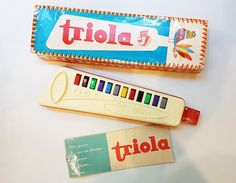 Vintage Children's Musical Wind Toy TRIOLA made in GDR in original box 1980's by USSRvintageToys on Etsy