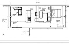Shipping container floorplan Small Scale Homes Made From Shipping Containers